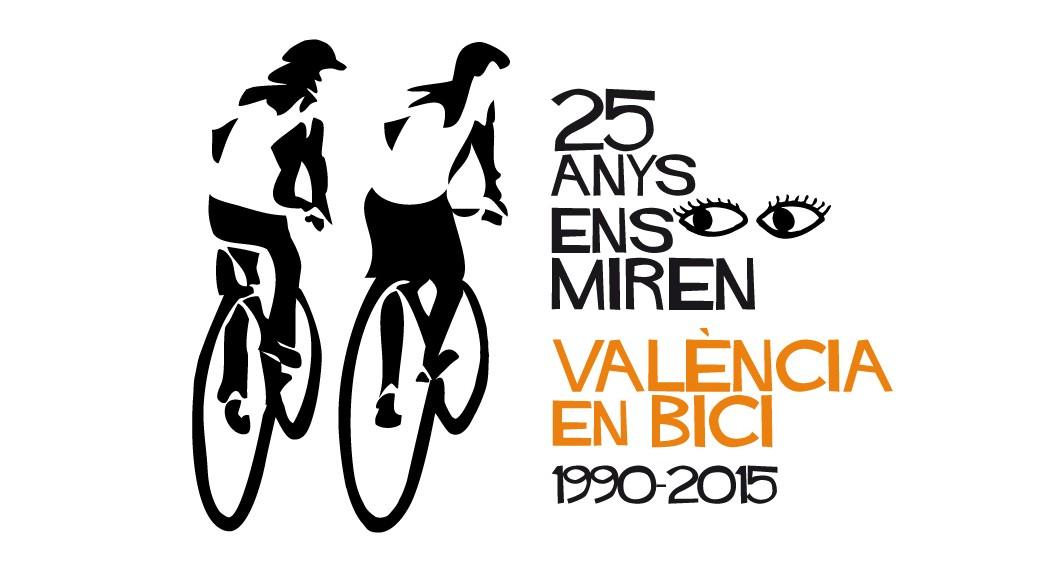 Logo del 25 aniversari de València en Bici