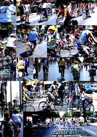 bicicfestació carril av Port por Fer