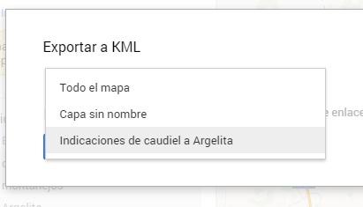 Exportar KML Capa My Maps