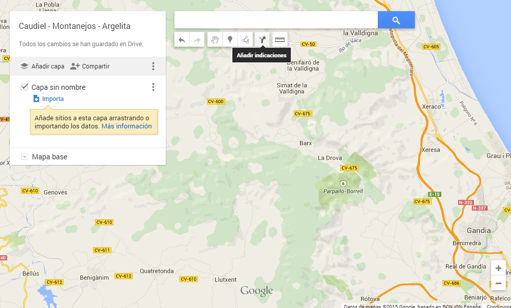 Indicaciones My Maps
