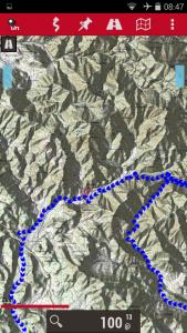 Oruxmaps IGN track