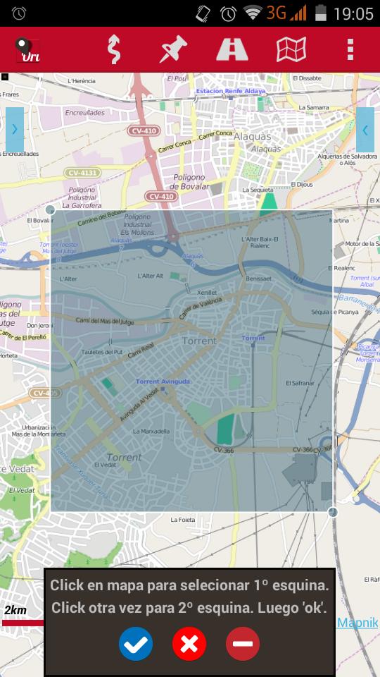 Oruxmaps crear mapa