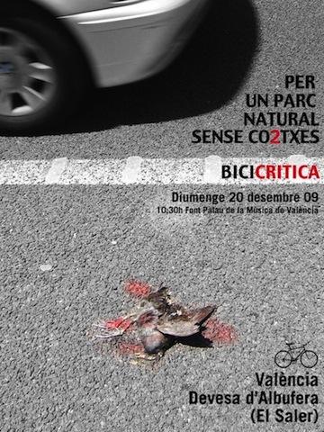 cartel 2009 Albufera sense cotxes