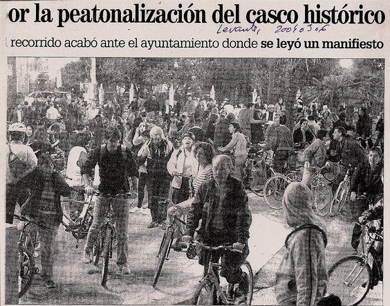 movilización peatonalización