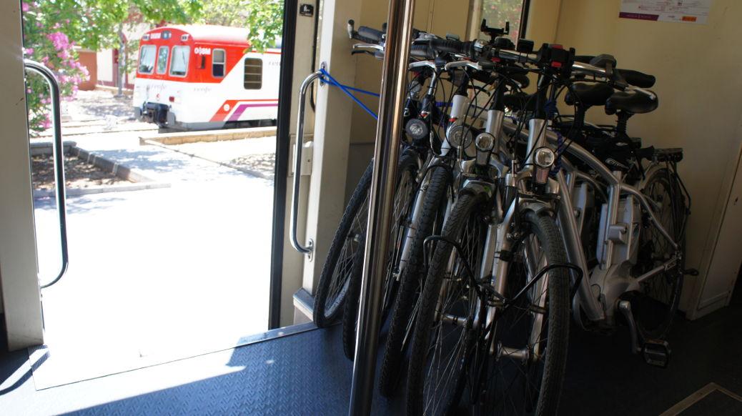 Bicicletas al tren
