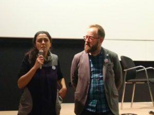 Belén y Javi antes de la proyección del documental