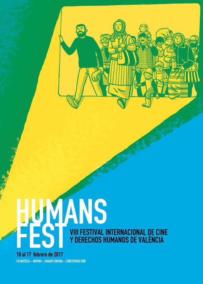 Cartel Festival Internacional de Cine y Derechos Humanos de València VIII
