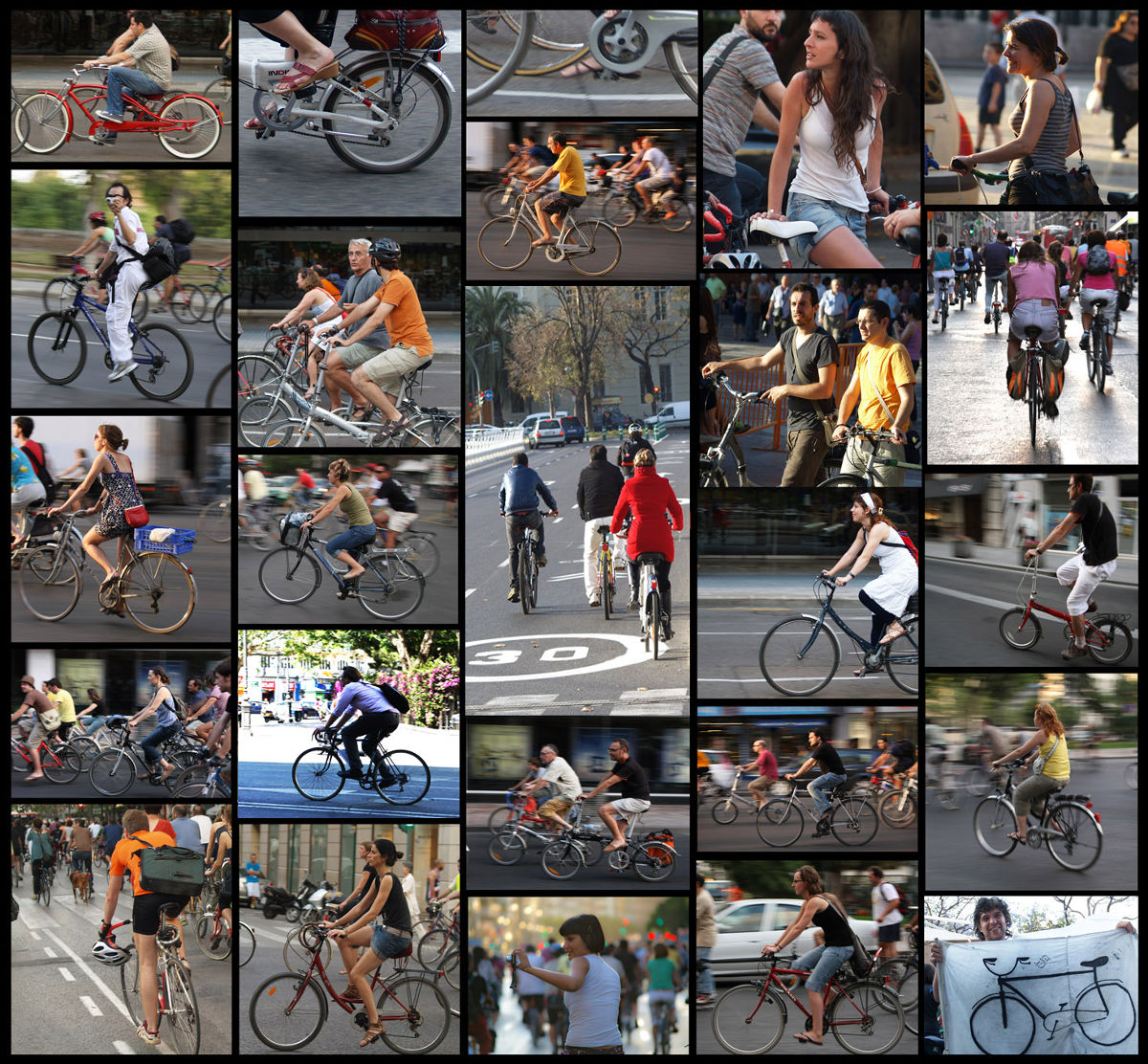 Las bicicletas toman la ciudad